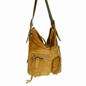 Tano Handbags Leather Love Let Her Hobo with Crossbody Strap Black